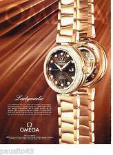 PUBLICITE ADVERTISING 086  2012  la montre Ladymatic Omega