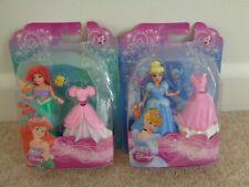 disney princess ariel and cinderella with plastic clothes