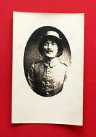 Militär Foto Porträt AK 1. WK Deutscher Soldat mit M16 Stahlhelm ( 52921