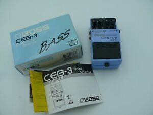 BOSS CEB-3 Bass Chorus Bass Guitar Effect Pedal w/box from japan