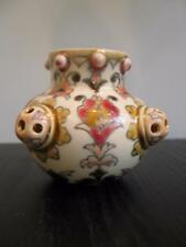 Zsolnay vase pierced reticulated antique 19th century
