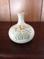 Orange Flowers Speckled Squat Bottom Small Bud Vase Counterpoint Japan Vintage