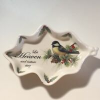 Cracker Barrel Chickadee SEASON OF PEACE Let Heaven and Nature Sing Decor Dish