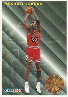 MICHAEL JORDAN League Leader Fleer 1993-94 Basketball Card #224