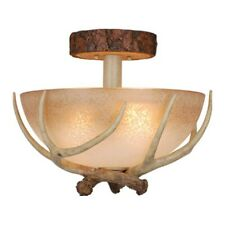 Vaxcel Lodge 3 Light Semi-Flush Mount, Noachian Stone - CF33016NS
