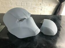 More details for red hood helmet prop mask cosplay resin cast fibreglass backed ready to paint