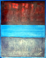 MARK ROTHKO / LOVELY OIL on CANVAS, Art Painting Hand Signed. Expressionism