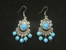 Simulated Turquoise Silver Plated Fashion Jewellery