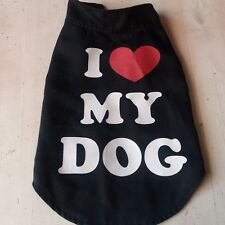 "veste , manteau, petit  chien ""I love my dog """