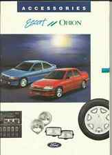 FORD ESCORT AND ORION,  VERY COMPREHENSIVE ACCESSORIES SALES BROCHURE EARLY 90's