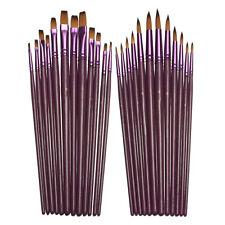 12 PCs Durable Acrylic Oil Paint Drawing  Pen Nylon Hair Watercolor Brush Set