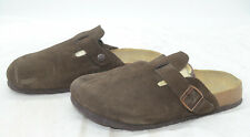 Betula by Birkenstock Womens Sz 39 8 Brown Suede Comfort Slide-In Clogs Mules