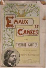 Émaux et Camées. Théophile Gautier. Aquarelles H. Caruchet. Charpentier 1895