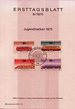 "BRD MiNr 836-839 ETB 8-75 ""Jugend 1975"": Lokomotiven"