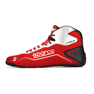 Sparco Kartschuh K-Pole - Rot/weiß - Neustes Modell - Karting Shoes red/white