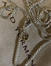 "Authentic DAVID YURMAN NECKLACE BOX CHAIN 1.7 MM 22""L WITH 585 14K GOLD"