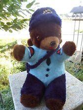 "Vintage 1986 Montreal Canada Post Plush Stuffed Teddy Bear Mighty Star 16"" Blue"