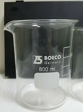 BOECO 800ML GLASS BEAKER LOW FORM BOROSILICATE
