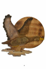 "Hand Carved Painted 17.5"" Wood Canada Goose Lodge Cottage Decor Wall Statue Art"