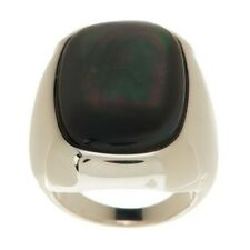 QVC VicenzaSilver Sterling Bold Mother-of-Pearl Doublet Ring Size 8 $173