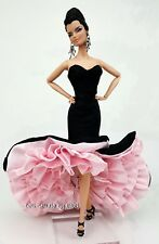 Flamingo Pink Siren Evening Dress Outfit Fits Barbie Silkstone Fashion Royalty