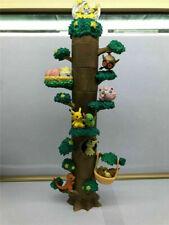 8PCS/Set Pokemon Miniature Forest Tree Collection Pikachu Figures Toy No Box