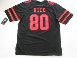 Jerry Rice #80 San Francisco 49ers Game On-Field Team Jersey Black