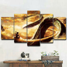 Dragon Ball Art Picture Print Goku & Shenlong 5 Piece Canvas Wall Home Decor
