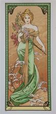 Alphonse Mucha Seasons Spring 1900 Fine Art Lithograph Limited Edition S2