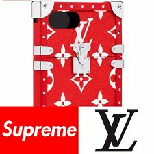 Supreme x Louis Vuitton Red iPhone 7+ Monogram Trunk Case Accessories RARE