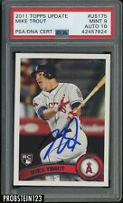 2011 Topps Update #US175 Mike Trout RC Rookie Signed AUTO PSA 9 PSA/DNA 10