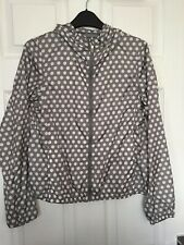 Uniqlo Womens Grey Polka Dot Lightweight Hooded Pocketable Parka Size XS