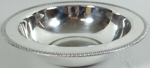 Wm Rogers Silverplate Serving Bowl Silver Plate 10 in Diameter Vtg Foil Label