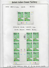 British Indian Ocean Territory 1990 Birds in blocks on album pages MNH