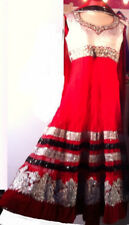 Designer Red Anarkali Dress Indian Pakistani Ball Gown Wedding Party