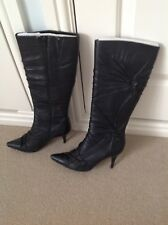 "Ladies black boots by ""Bertie"".  Size 5"