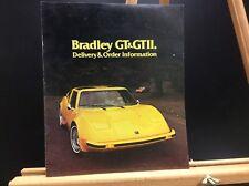 1977 Bradley GT & GTII Kit Car Delivery Brochure