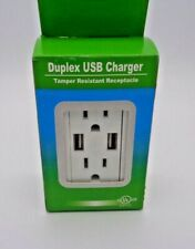 USB Charger 4 A socket Dual Duplex Outlet Receptacle 15 Amp w/ wall plate 4 pack