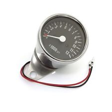 Mini 2.5 Inch Chrome Motorcycle Tachometer 1:7 Ratio Cafe Racer CB350 CB450 CB
