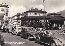 CHIASSO: Confine di Stato Italo-Svizzero - la pensilina e corso S. Gottardo 1958