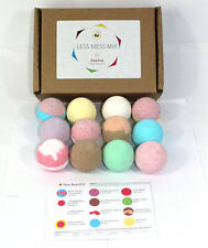 Bath Bombs Reduced Plastic Less Mess Mix scents of 12x65g gift set Bee Beautiful