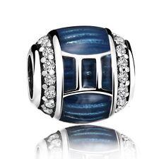 European Gemini New Fashion Silver Bead Charm Fit 925 Sterling Bracelet Jewelry