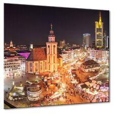 Leinwand Frankfurt von oben Zeil Hauptwache Weihnachstmarkt Panorama Skyline
