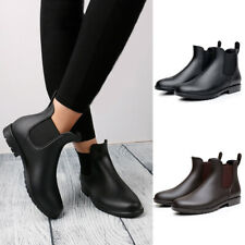Winter Women Ladies Waterproof Chelsea Ankle Wellington Boots Rain Wellies Shoes