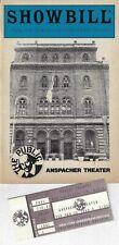 """Jessica Tandy """"SALONIKA"""" Maxwell Caulfield 1985 Public Playbill / Ticket Stub"""
