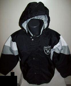OAKLAND/VEGAS RAIDERS STARTER Hooded Jacket  S, M, L, XL, 2X