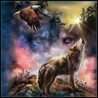Wolf Eagle - DIY Chart Counted Cross Stitch Patterns Needlework DMC Color