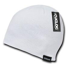 White Solid Plain Warm Winter Snowboard Knit Skull Beanie Beanies Cap Hat Hats