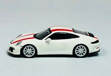Minichamps 1/87 HO Porsche 991 911 R White /Red 2016 PLASTIC REPLICA  870 066220