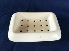 Strainer soap dish with holes vintage ironstone bath/kitchen soap holder